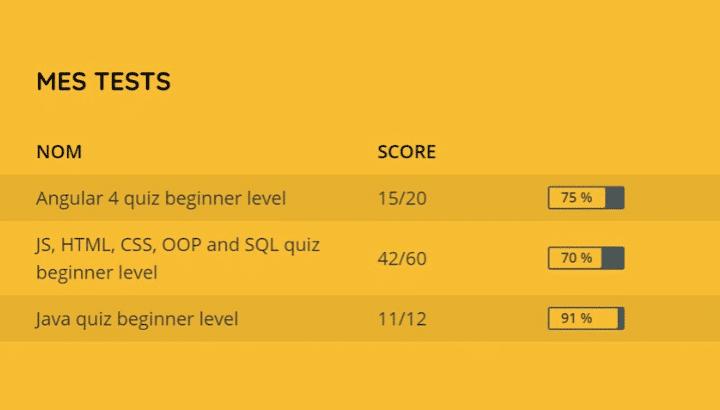 Tests techniques SkillValue