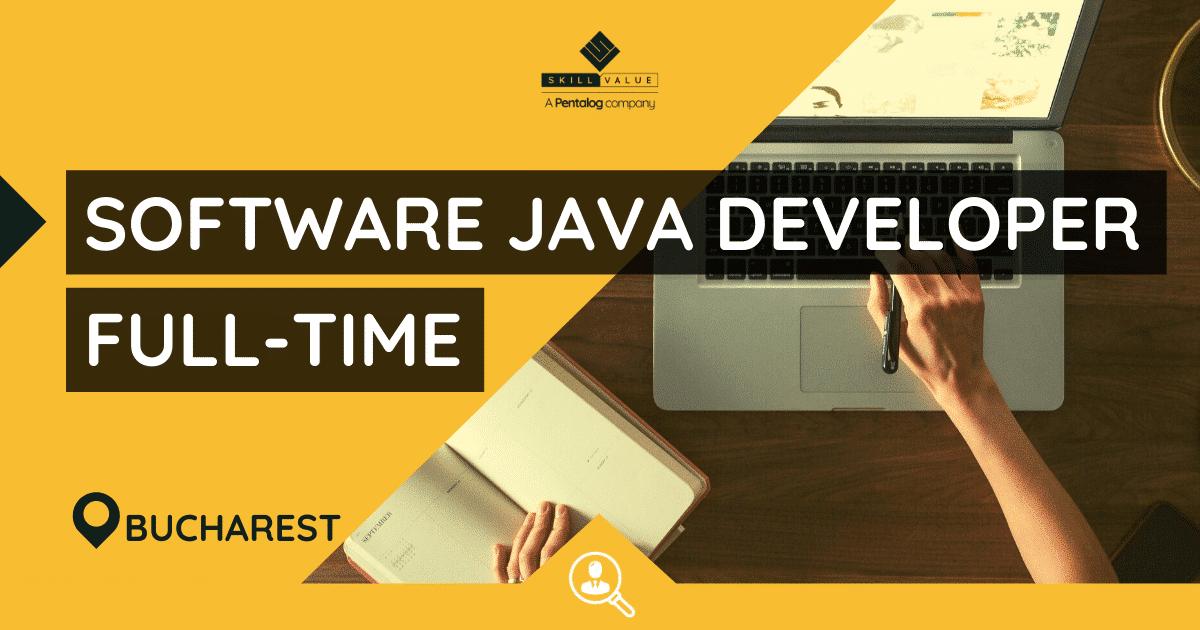 Java Software Developer – Full-Time Job in Bucharest
