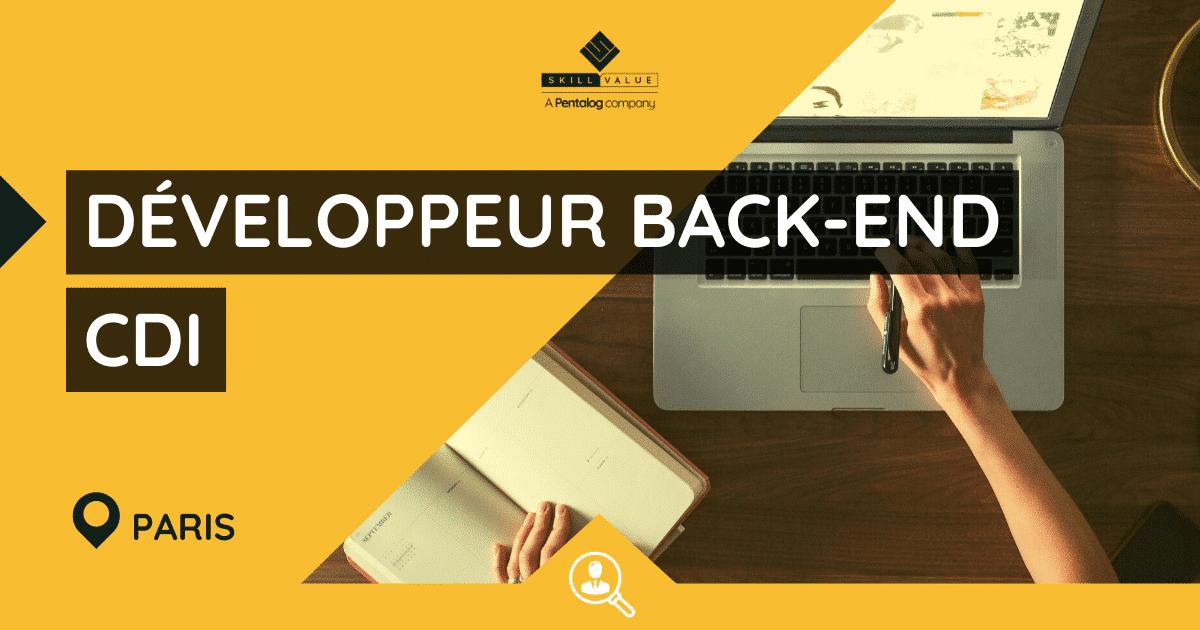 Développeur Back-End Python / Django H/F – CDI – Paris
