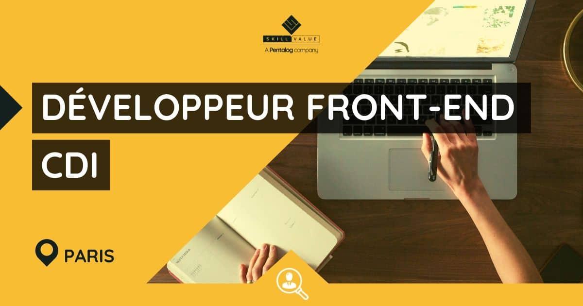 Développeur Front-End JavaScript / React H/F – CDI – Paris