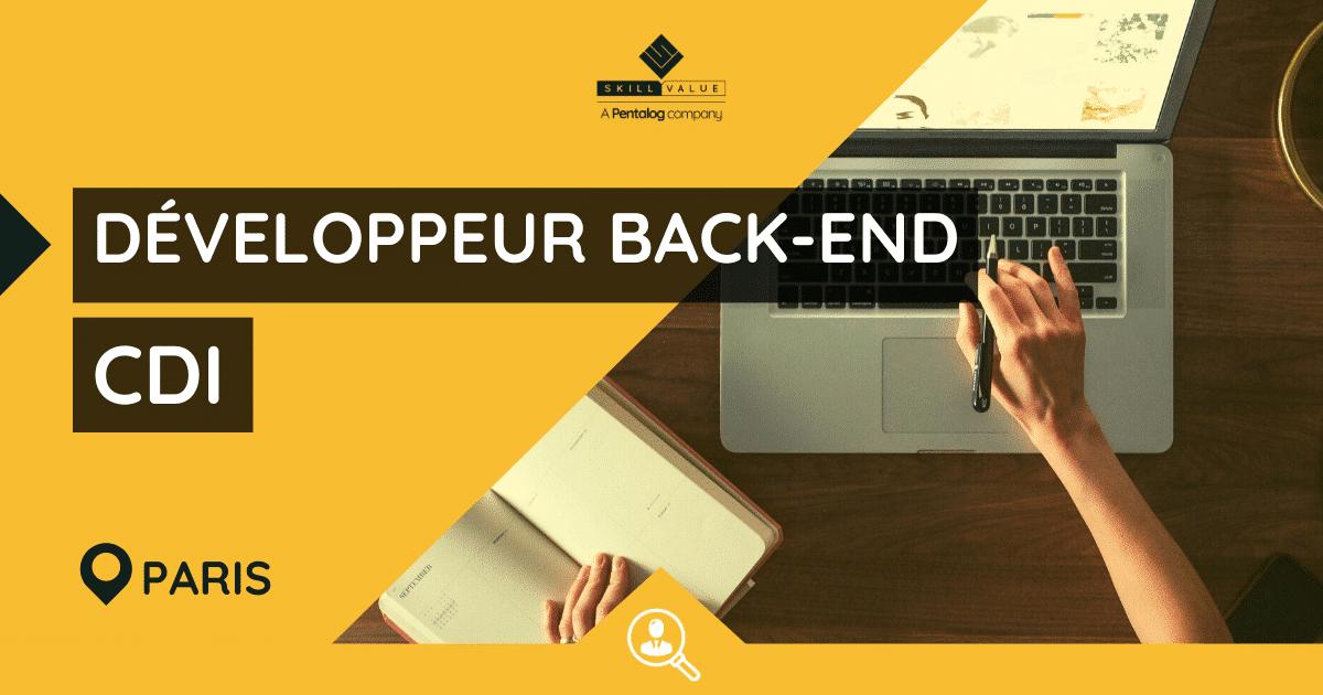 Développeur Back-End Senior PHP / Symfony – CDI – Paris