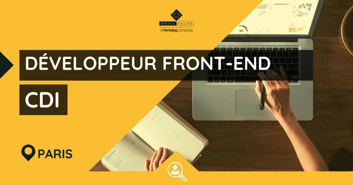Développeur Front-End JavaScript / Angular H/F – CDI – Paris